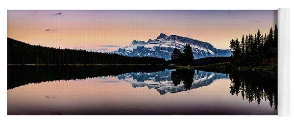 Twilight, Two Jack Lake Yoga Mat