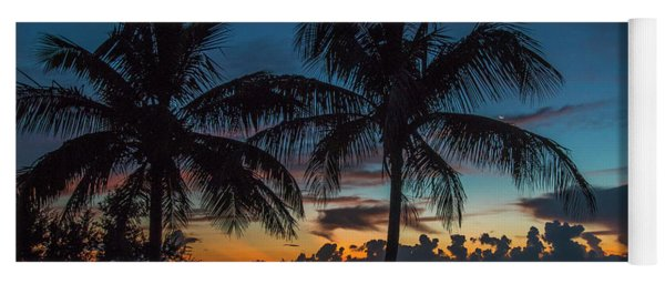 Yoga Mat featuring the photograph Twin Palms Sunrise by Tom Claud