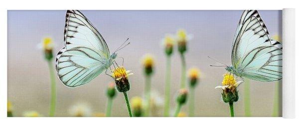 Two Butterflies Yoga Mat