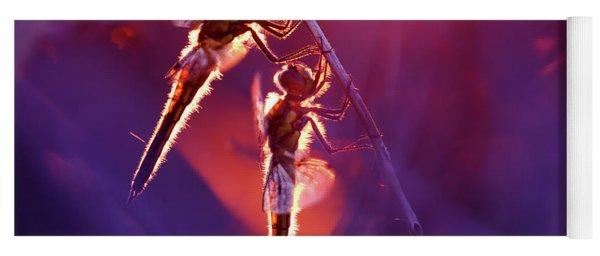 Two Can Keep A Secret - Dragonflies At Sunset Yoga Mat