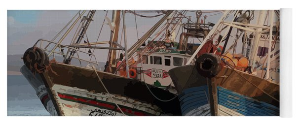 Two Old Fishing Boats At Rest Yoga Mat