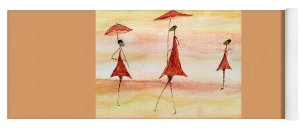 Umbrellas Yoga Mat
