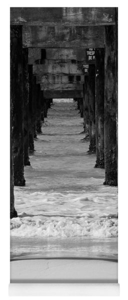 Under The Pier #2 Bw Yoga Mat