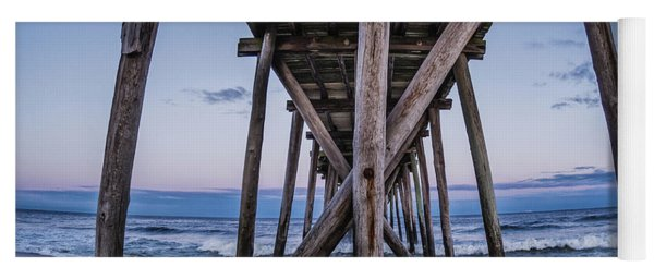 Yoga Mat featuring the photograph Under The Pier by Steve Stanger