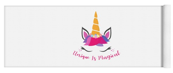 Unique Is Magical - Baby Room Nursery Art Poster Print Yoga Mat