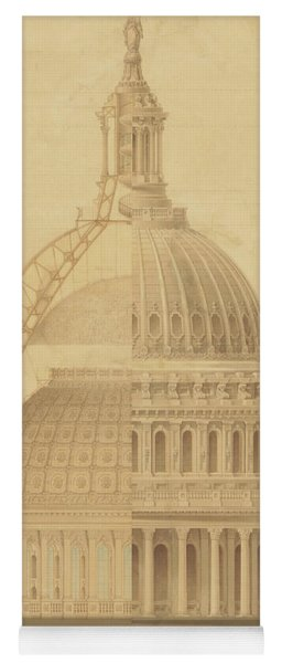United States Capitol, Section Of Dome, 1855 Yoga Mat