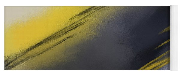 Unplanned - Yellow And Abstract Art Yoga Mat