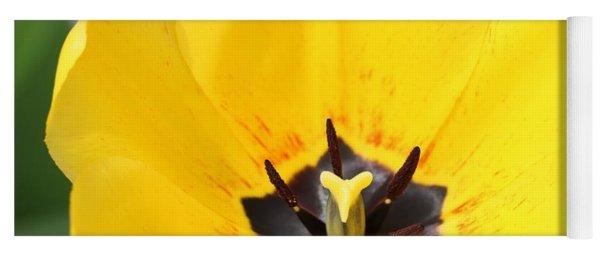 Uplifting Yellow Tulip Yoga Mat