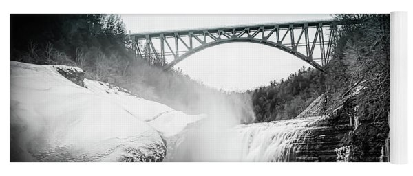 Upper Falls At Letchworth State Park Yoga Mat