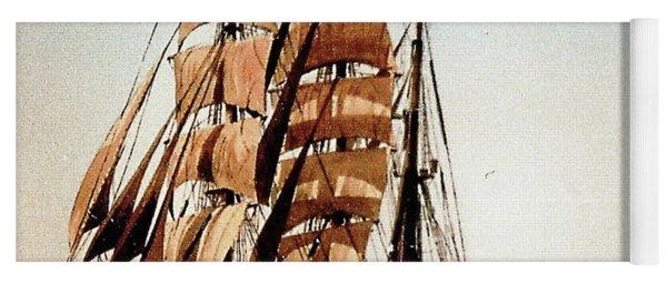 Us Coastguard Tall Ship Yoga Mat