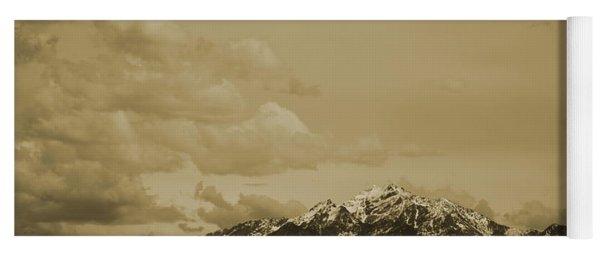 Utah Mountain In Sepia Yoga Mat