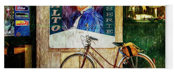 Yoga Mat featuring the photograph Van Gogh's Peugeot Bicycle by Craig J Satterlee