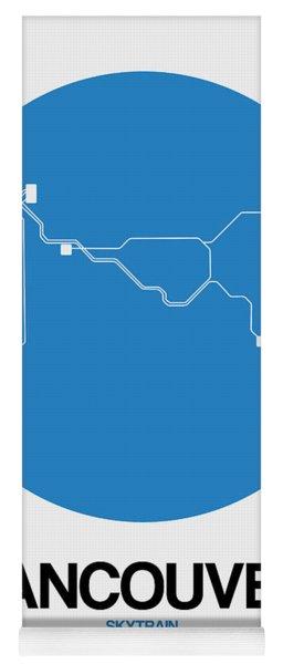 Vancouver Blue Subway Map Yoga Mat
