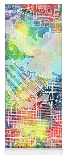 Vancouver Map Watercolor Yoga Mat