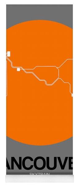 Vancouver Orange Subway Map Yoga Mat