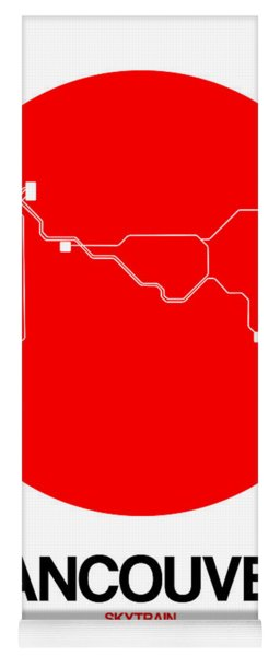 Vancouver Red Subway Map Yoga Mat