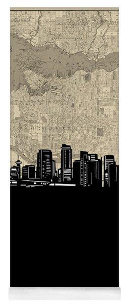 Vancouver Skyline Map Yoga Mat