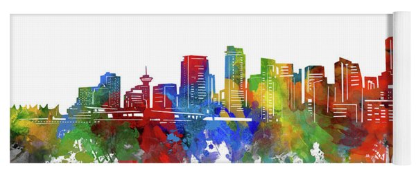 Vancouver Skyline Watercolor 2 Yoga Mat
