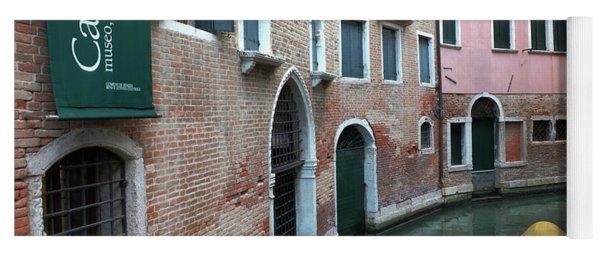 Venetian Streets -canals. Carlo Galdoni Museum Yoga Mat