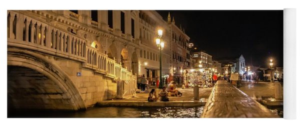 Venice At Night. San Marco Yoga Mat