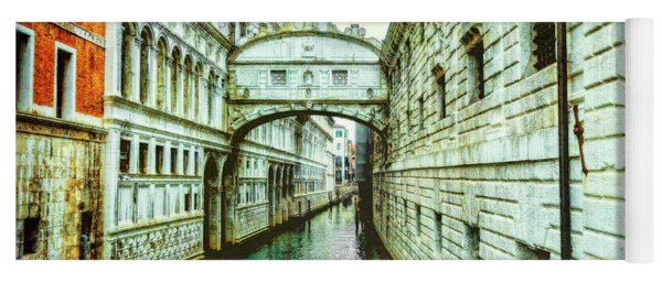 Yoga Mat featuring the photograph Venice Bridge Of Sighs by Kay Brewer