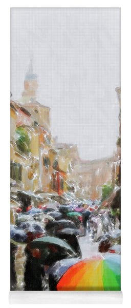 Venice In The Rain Yoga Mat