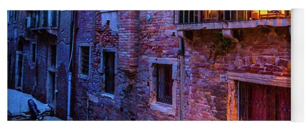 Venice Windows At Night Yoga Mat