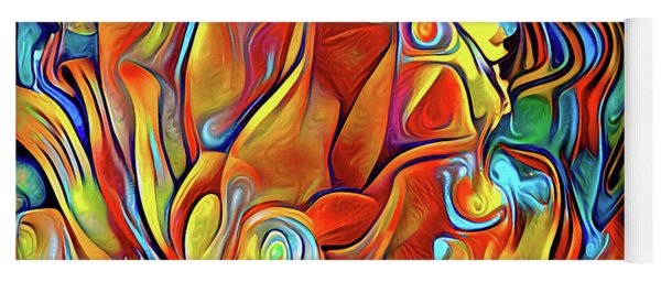 Yoga Mat featuring the digital art Vibrancy by Missy Gainer