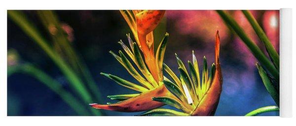 Vibrant Jungle Bird Yoga Mat