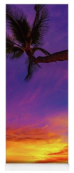 Vibrant Kona Inn Sunset Yoga Mat