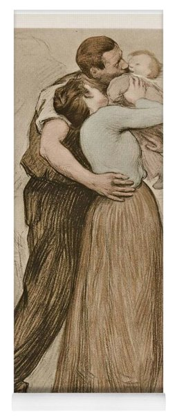 Victor Emile Prouve  French  1858   1943 The Kiss  Le Baiser  1898  Collotype On Wove Paper Yoga Mat