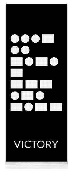 Victory Morse Code- Art By Linda Woods Yoga Mat