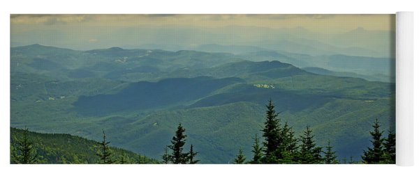 View From Mount Mitchell Yoga Mat