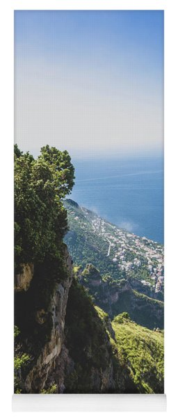 View Of Amalfi Italy From Path Of The Gods Yoga Mat