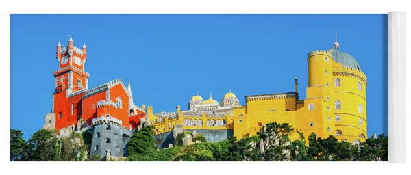 View Of Pena National Palace, Sintra, Portugal, Europe Yoga Mat