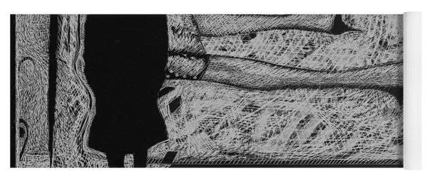 Viewing Supine Woman. Yoga Mat