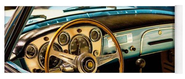 Vintage Blue Car Yoga Mat