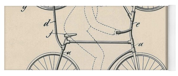 Vintage Blueprint Double Bicycle For Looping The Loop, 1905 Yoga Mat