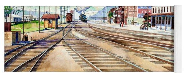 Vintage Color Columbia Rail Yards Yoga Mat