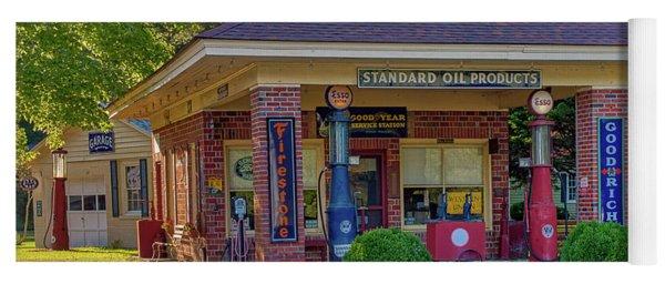 Vintage Gas Station Yoga Mat