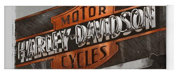 Vintage Motorcycle Shop Yoga Mat