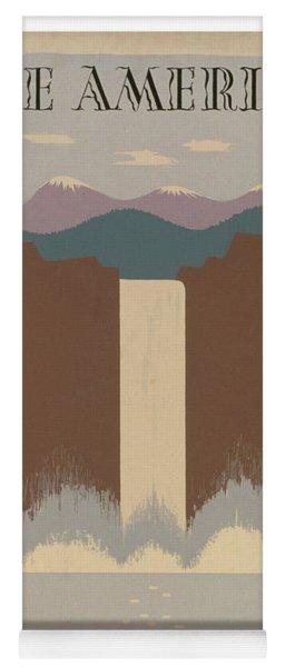 Vintage National Parks Travel Poster 2 Yoga Mat