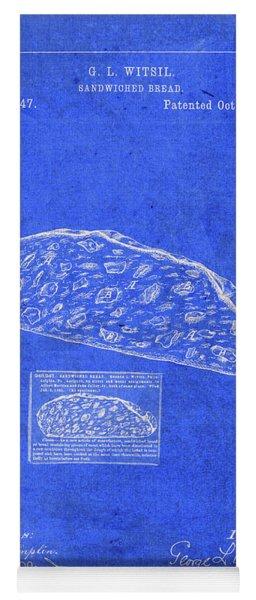 Vintage Sandwich Patent Drawing Blueprint Yoga Mat