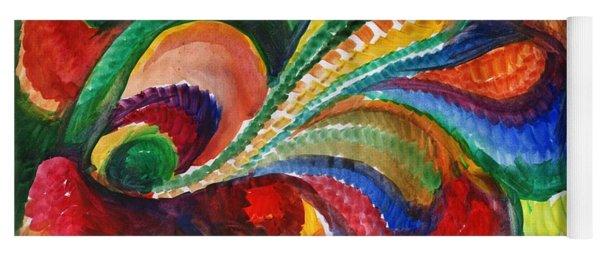 Vivid Abstract Watercolor Yoga Mat