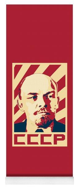 Vladimir Lenin Retro Propaganda Yoga Mat