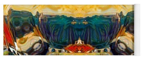 Yoga Mat featuring the digital art Volcano 2.0 by A zakaria Mami