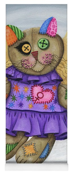 Voodoo Empress Fairy Cat Doll - Patchwork Cat Yoga Mat