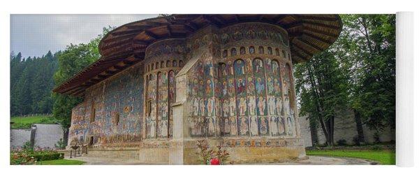 Voronet Monastery Painted Church In Moldavia Yoga Mat