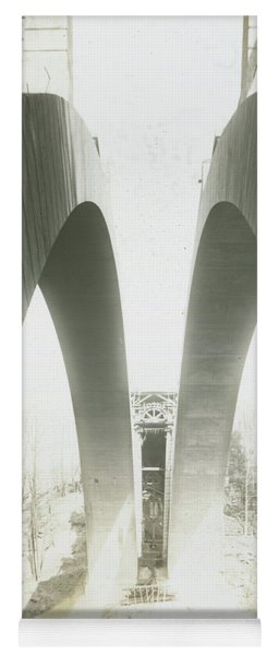 Walnut Lane Bridge Under Construction Yoga Mat