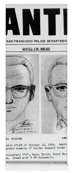Wanted Zodiac Killer Yoga Mat